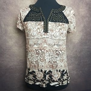 Lucky Brand Studded Top- Size S